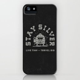 """""""Stay Silver"""" Retro Type (1 color) iPhone Case"""