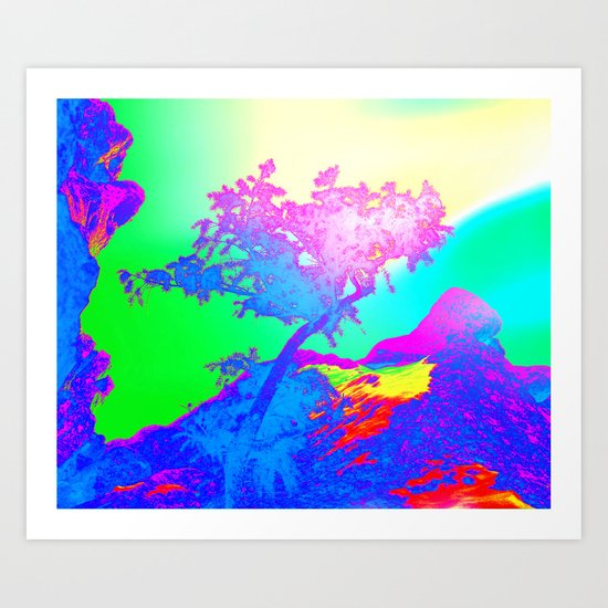 Flowing Colors Art Print