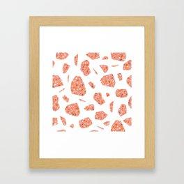 Terrazzo pattern Framed Art Print