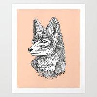 Fox Dude Art Print