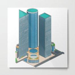 Tel Aviv Pixel Art Collection 1 Metal Print