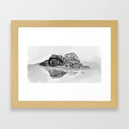 Creeping Caiman Framed Art Print