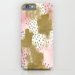 Pink gold & black improvisation iPhone Case