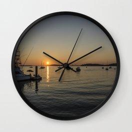 Sunset at Hull Massachusetts 2 Wall Clock