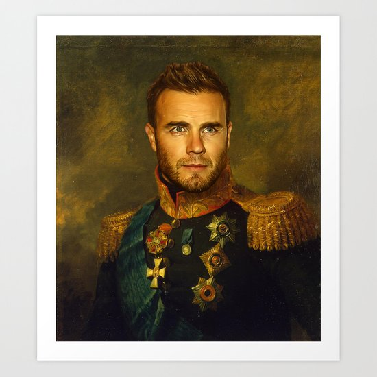 Gary Barlow - replaceface Art Print