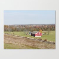battlefield Canvas Prints featuring Battlefield Farmhouse  by Scenic Sights by Tara
