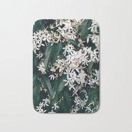 Green and White Bath Mat