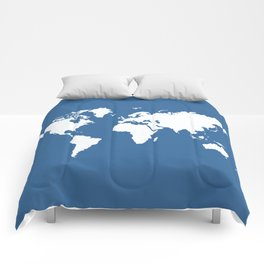 Azure Elegant World Comforters