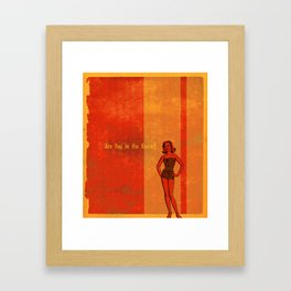 Are You In The Know? Framed Art Print