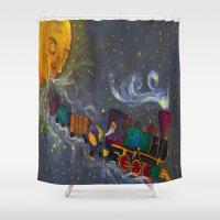 sandman Shower Curtains featuring Mr. Sandman by Traci Maturo Illustrations