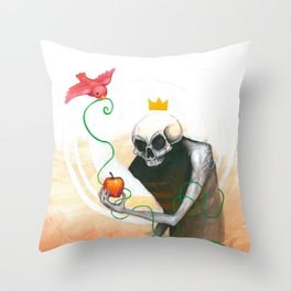 maybe this apple Throw Pillow