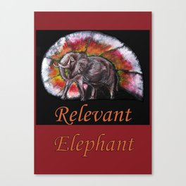 Relevant Elephant Canvas Print
