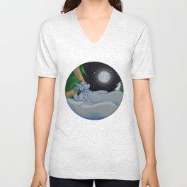 The Festive Moon Unisex V-Neck