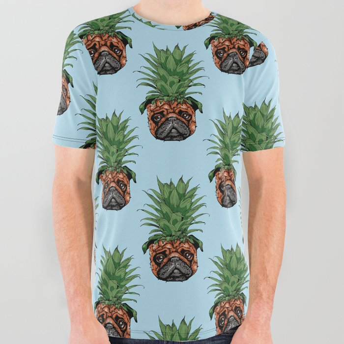 a94e9fd7 Pineapple Pug All Over Graphic Tee by huebucket | Society6