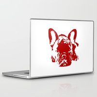 frenchie Laptop & iPad Skins featuring Frenchie by Red Eyes Apparel