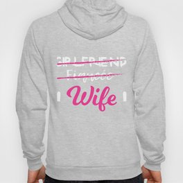 Fiancee Gift Wife Engaged Shirt Just Married Engagement Present Hoody