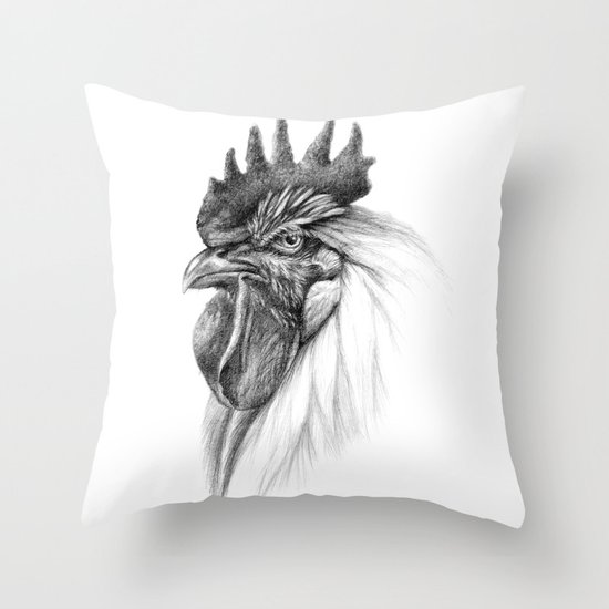 The Rooster SK065 Throw Pillow