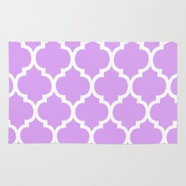 MOROCCAN PURPLE VIOLET AND WHITE PATTERN Rug