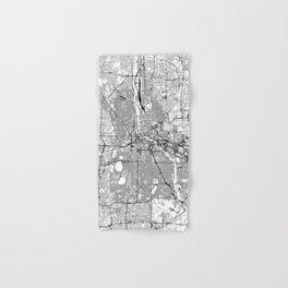 Minneapolis White Map Hand & Bath Towel