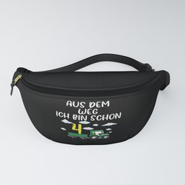 4th Birthday Gift Tractor Kids Fanny Pack