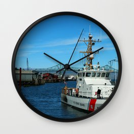 US Coast Guard On Columbia River Wall Clock