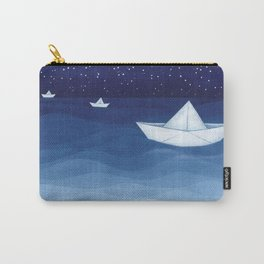 Paper boats illustration Carry-All Pouch