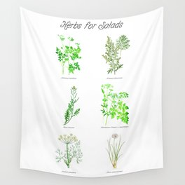 Herbs for Salads Wall Tapestry