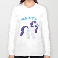 mlp Long Sleeve T-shirts featuring MLP FiM: Rarity by Yiji
