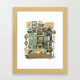 Professor Pug Framed Art Print