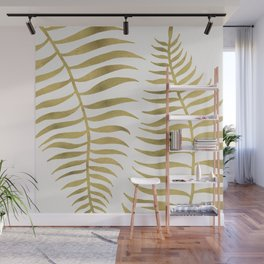 Golden Palm Leaf Wall Mural