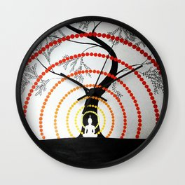 Waves of Peace Wall Clock