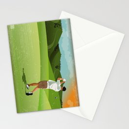 Mountain Golfer Stationery Cards