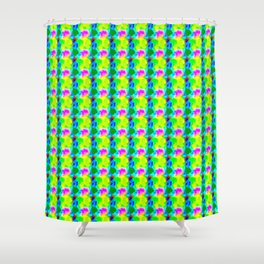 Leaves and flowers Shower Curtain
