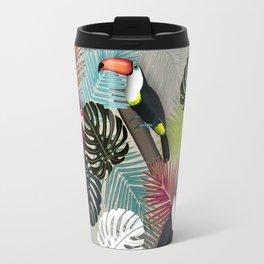 Tropical Birds (Color 2 - Bold) Travel Mug