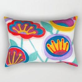 raw flower garden Rectangular Pillow