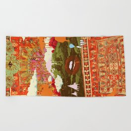 MORNING PSYCHEDELIA Beach Towel
