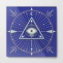 Evil Eye Mandala – Navy by catcoq