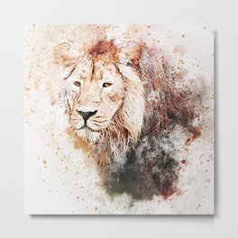 Mighty Lion Painting Metal Print