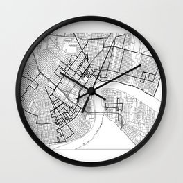 Every Parade Route in New Orleans Wall Clock