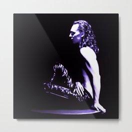 Loki - A Study in Black/White Metal Print