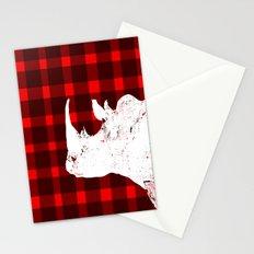 Animals Illustration - Rhinos Stationery Cards