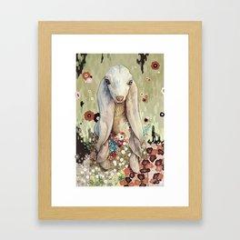 A Goat of Refinement Framed Art Print