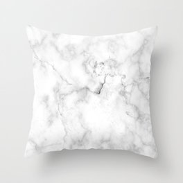 Marble White Grey Pattern Throw Pillow