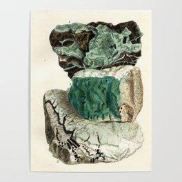 Vintage Mineralogy Illustration Poster