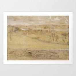 Hertervig, Lars (1830-1902), landscape Art Print