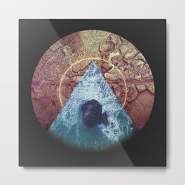 These waters must be troubled Metal Print