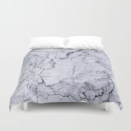 Grey Marble Stone Texture Duvet Cover