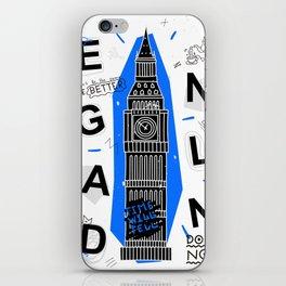 England typography iPhone Skin