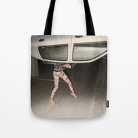grand theft auto Tote Bags featuring Grand Theft Auto by Linas Vaitonis