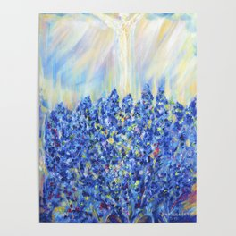 Lavender after the rain, flowers Poster